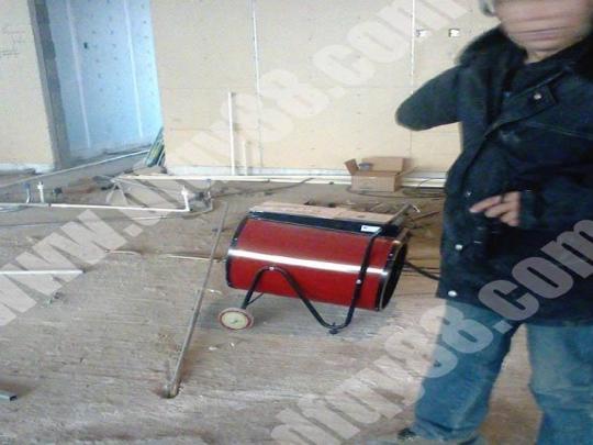 室内装修工程热风机使用